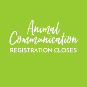 Animal Communication Registration closes
